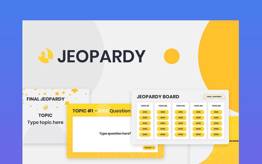 quiz jeopardy powerpoint template