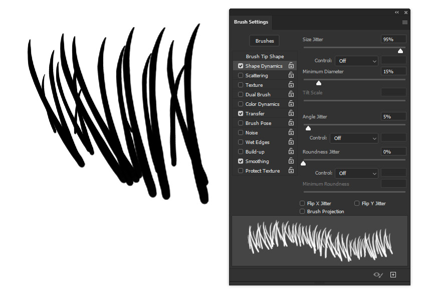 photoshop shape dynamics