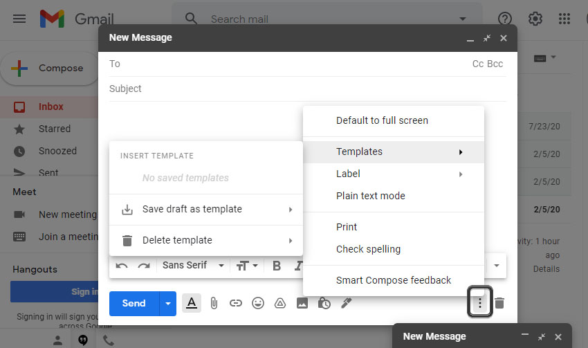 Gmail Compose Template