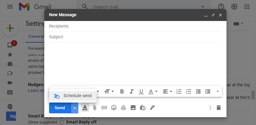 Gmail Schedule Reply