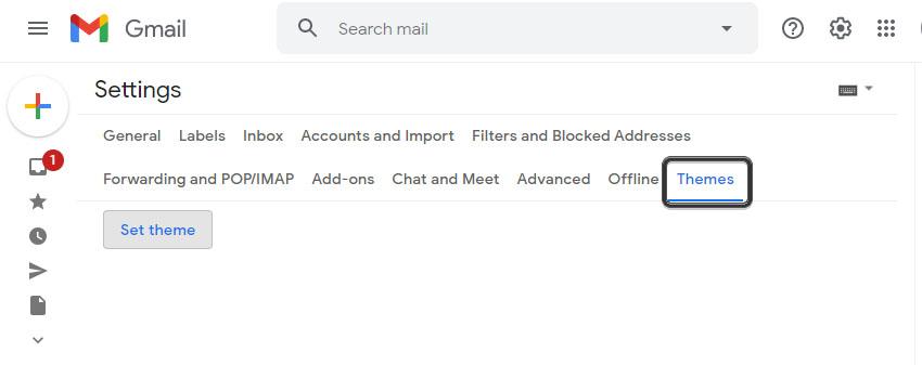 Gmail Theme Settings