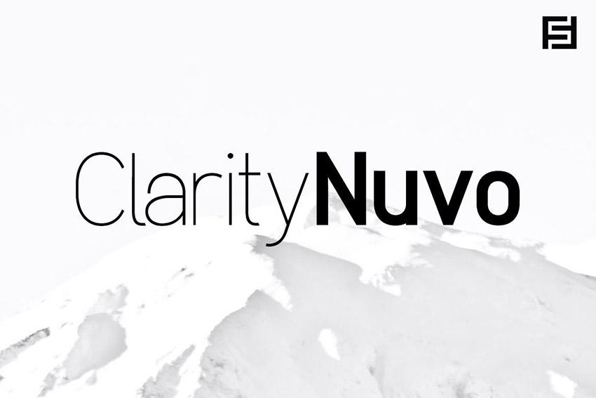 Clarity Nuvo - Clean & Modern Sans-Serif Typeface