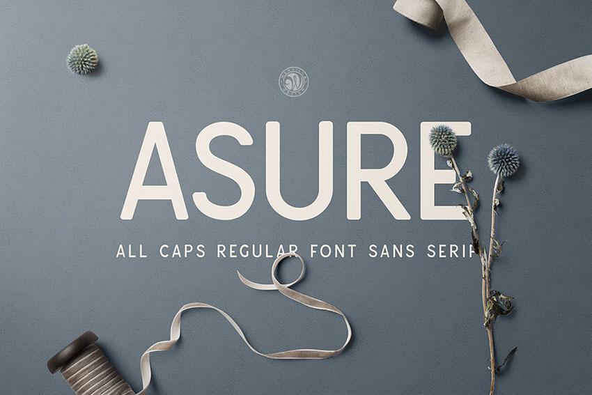 Asure All Caps Sans Serif Typeface
