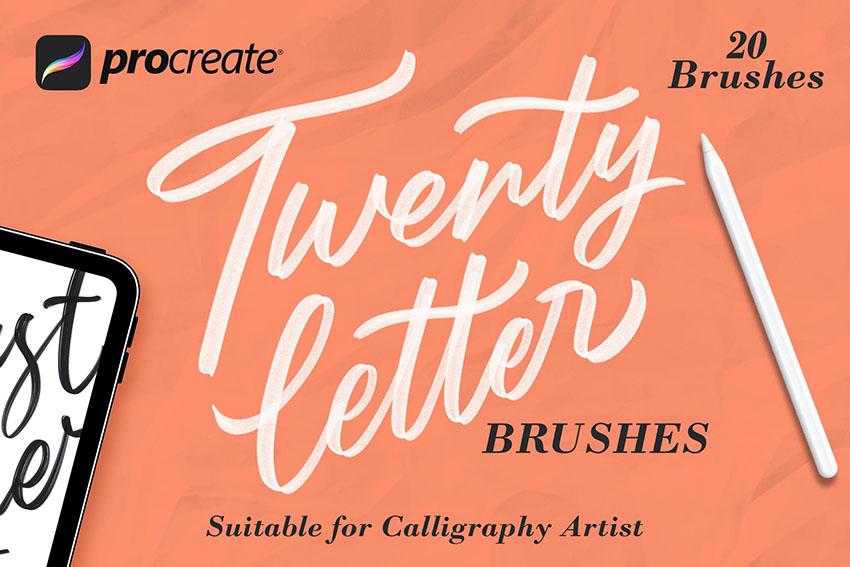 procreate lettering brushes