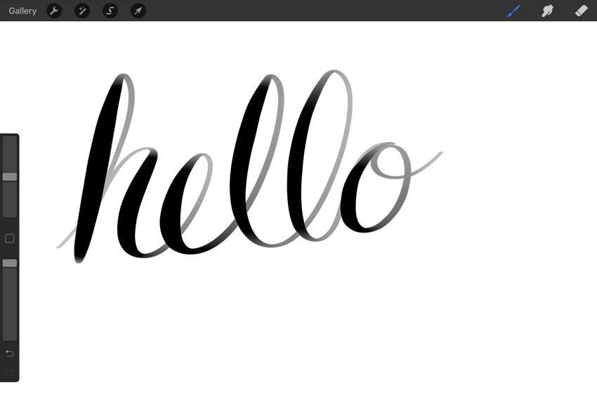 calligraphy procreate