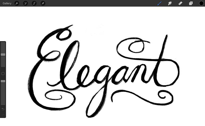 procreate calligraphy template