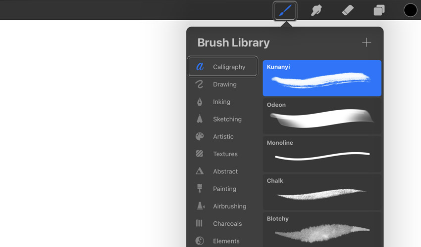 procreate calligraphy brushes