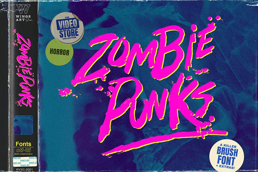 Zombie Punks - The Retro Horror Movie Font