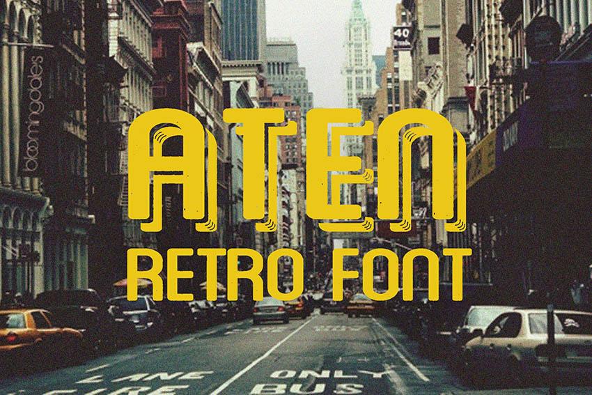 Aten Vintage Look Retro Font