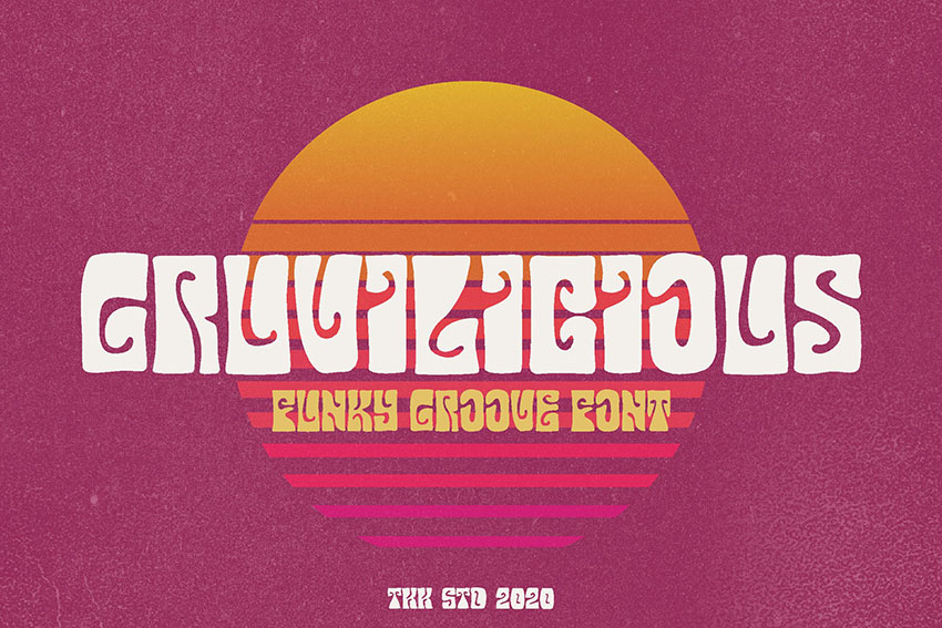 Gruvilicious - Retro Groovy Font