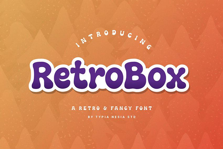 Retrobox Retro Fancy Font