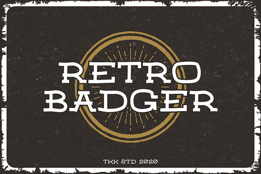 Retro Badger - Classic Western Font