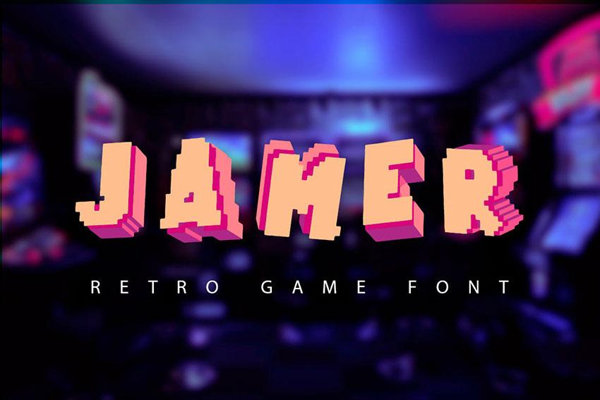 Jamer  retro game font