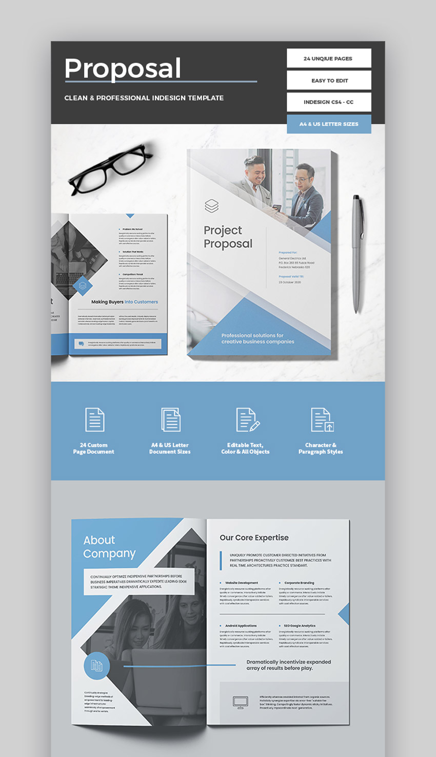 35 Best Business Proposal Templates For Projects In 2021
