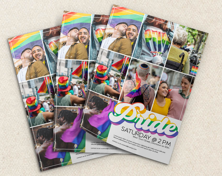 pride flyer template