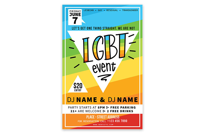 LGBT Event Flyer Template