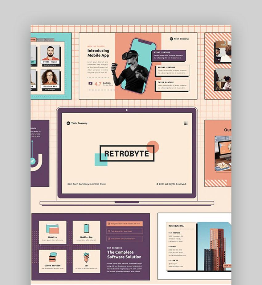 RetroByte: Technology PowerPoint Template