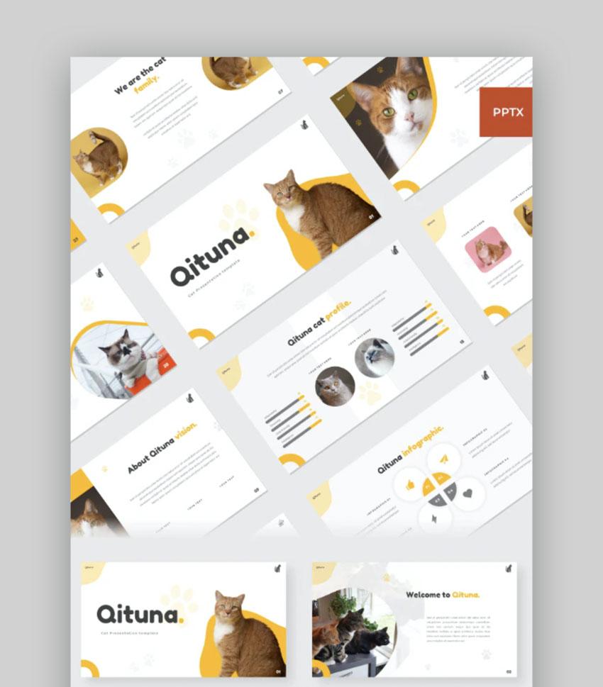 Qituna - Cat animal PowerPoint Template