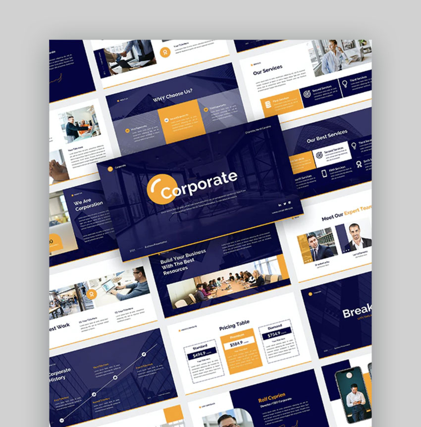 Corporate - Company Business Presentation PowerPoint Template