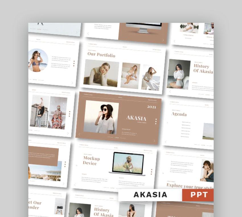 Akasia - Fashion Powerpoint Template