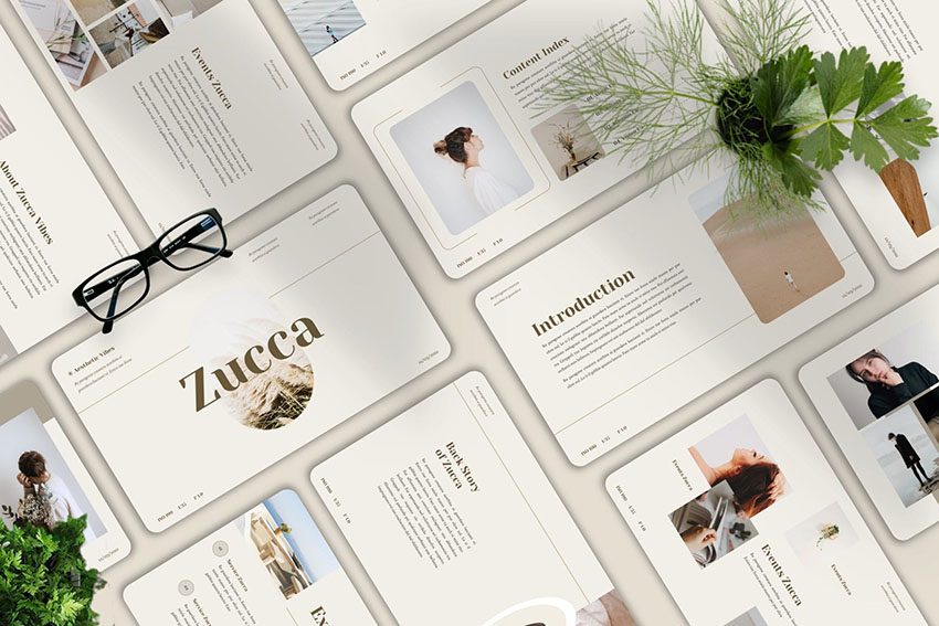 Zucca - Aesthetic Powerpoint Template