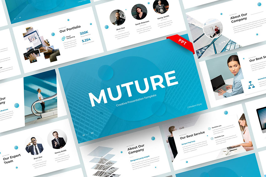 Muture - Creative PowerPoint Template