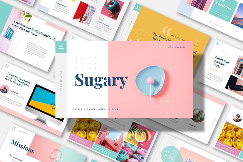 SUGARY - Creative Business Powerpoint