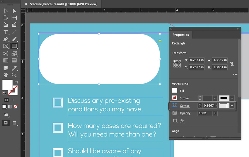 indesign rounded rectangle
