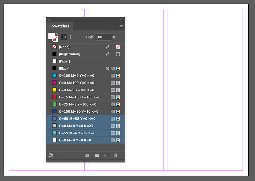 indesign swatches