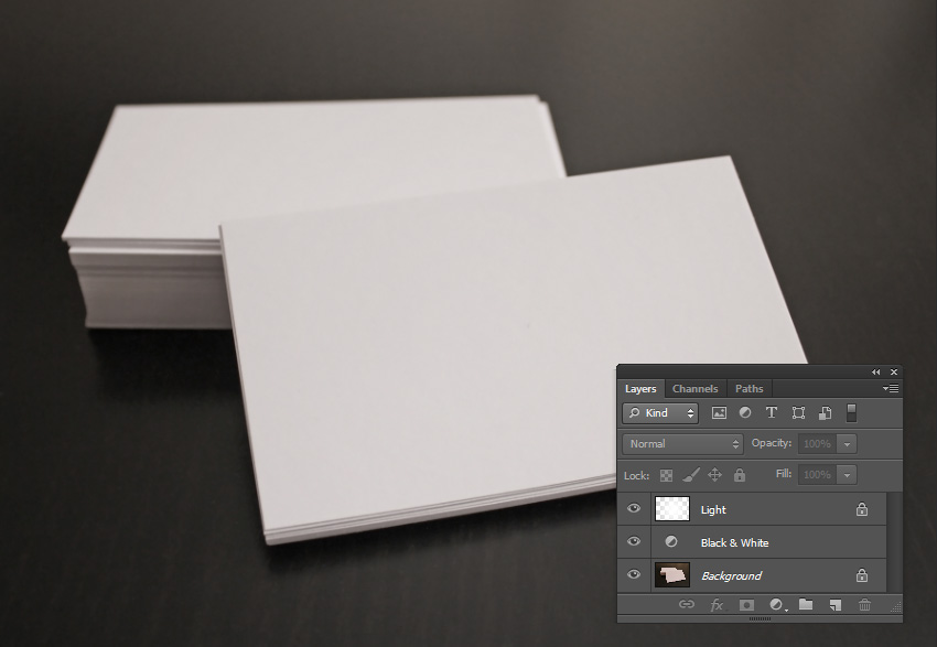 Adding a soft light to a photo using a New Layer and the Brush Tool B