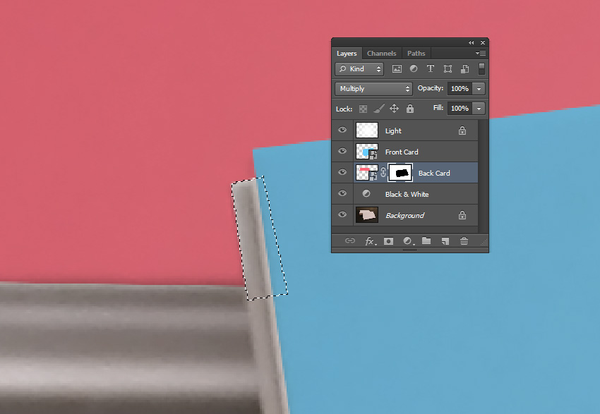 Manual Adjustments with the Lasso Tool L on the Layer Mask