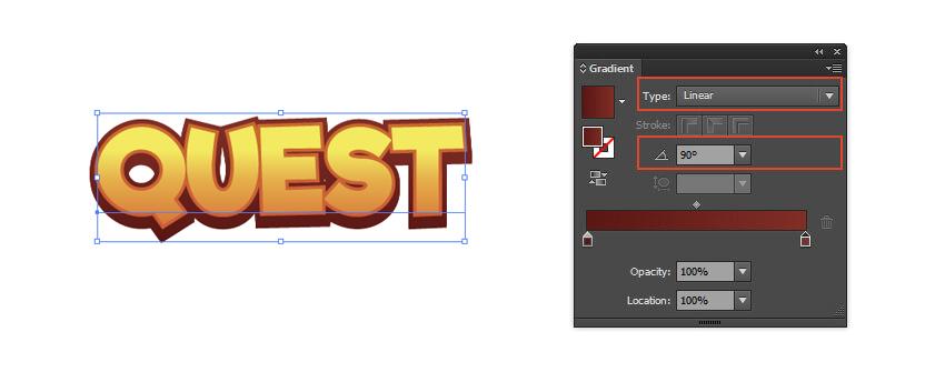 2 Color Stops Gradient