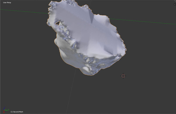 Smooth shading no material mapping in Blender