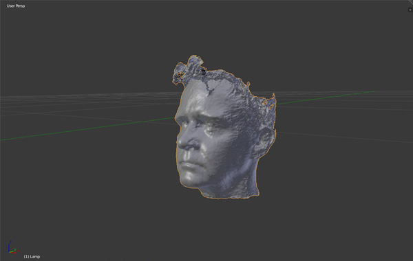 Textureless head in Blender