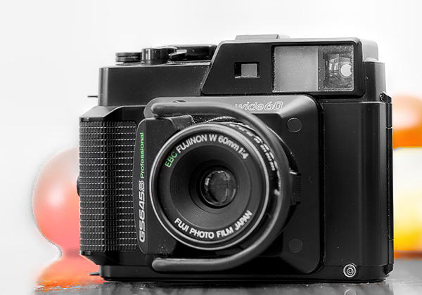 A medium format rangefinder camera from 1984 the Fujifilm GS645S