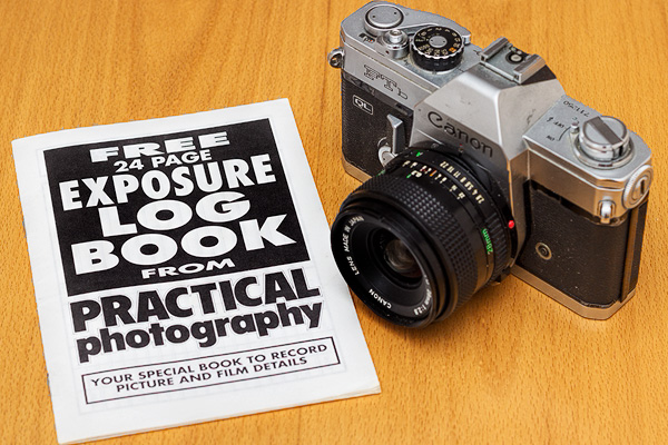 Exposure log books were common tools for photographers using film No EXIF existed back then