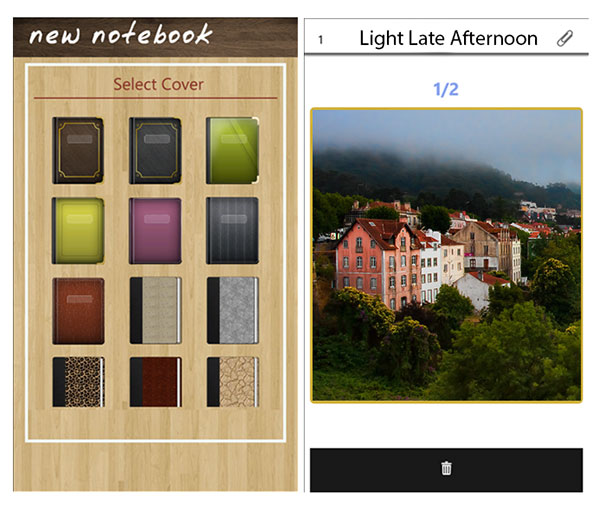 Notebooks an application for Windows Phone 8 allow to create notebooks for each subject mixing audio photography drawings and text