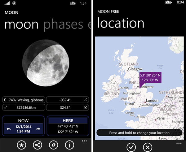 Moon Free app