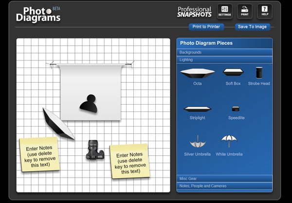 5 tools to create and share studio lighting diagrams photo diagrams offers an easy way to create your lighting diagrams ccuart Image collections