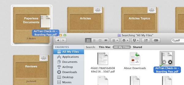 Uploading documents to Evernote for Mac