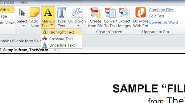 Using Nitro Readers markup options