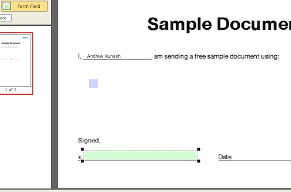 Adding text fields to a PDF document