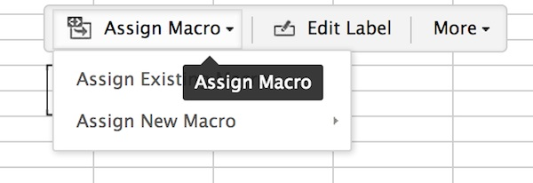 Creating a macro button in ZoHo Sheet