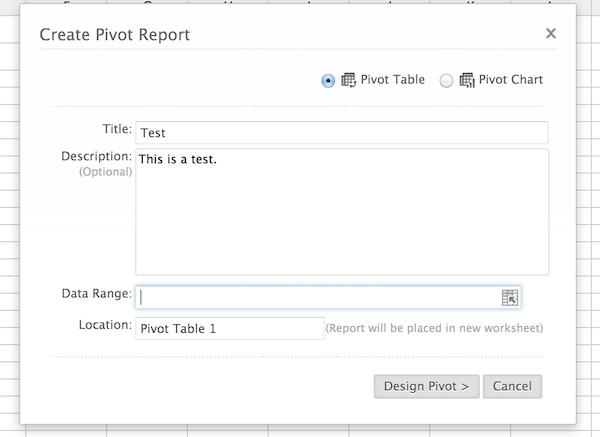 Creating a Pivot table in Zoho Sheet