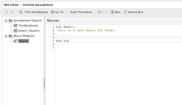 Programming a macro in Visual Basic