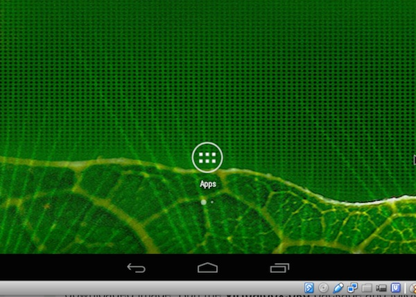 Accessing the app drawer in the Android VM