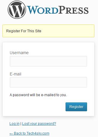 registration form fields