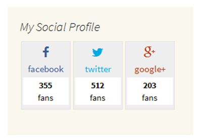 Building a social profile widget feature