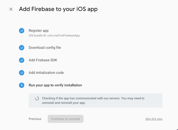 Run your app to verify installation
