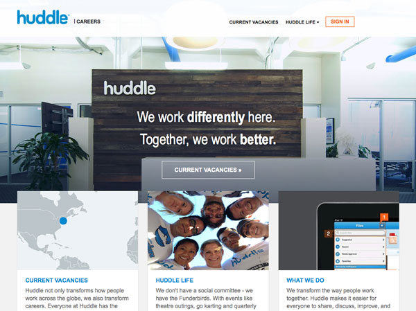 Huddle talent community